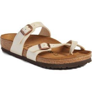 BIRKENSTOCK Mayari Birko-Flor Slide Sandals 38/7